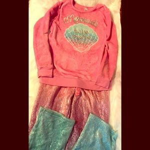 Justice Mermaid Pajamas Size 14/16 Super Cute!